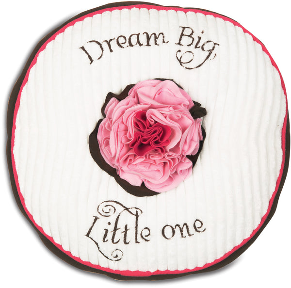 Dream Big Little One Strawberry Sundae Round Baby Pillow Pillow Itty Bitty & Pretty - GigglesGear.com