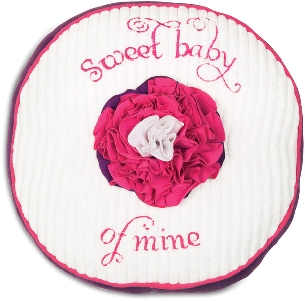 Sweet Baby of Mine Grape Jelly Round Baby Pillow Pillow Itty Bitty & Pretty - GigglesGear.com