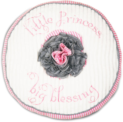 Little Princess Big Blessing Prima Ballerina Round Baby Pillow