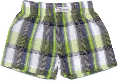 Plaid Grasshopper Boxer Baby Shorts