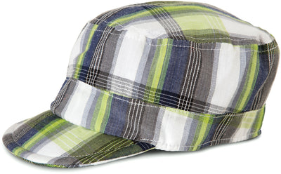 Plaid Grasshopper Baby Hat