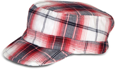 Plaid Fire Truck Baby Hat