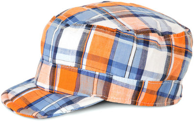 Plaid Orange Soda Baby Hat