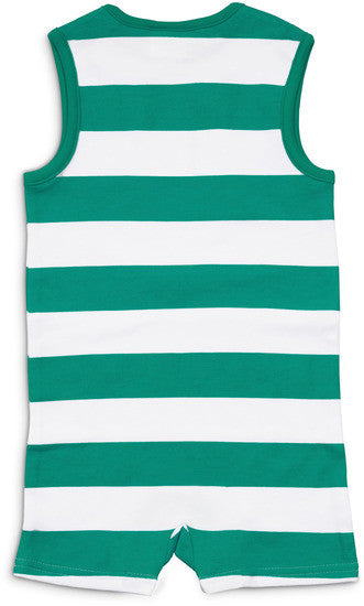 Green and White River Baby Romper Romper We Baby - GigglesGear.com