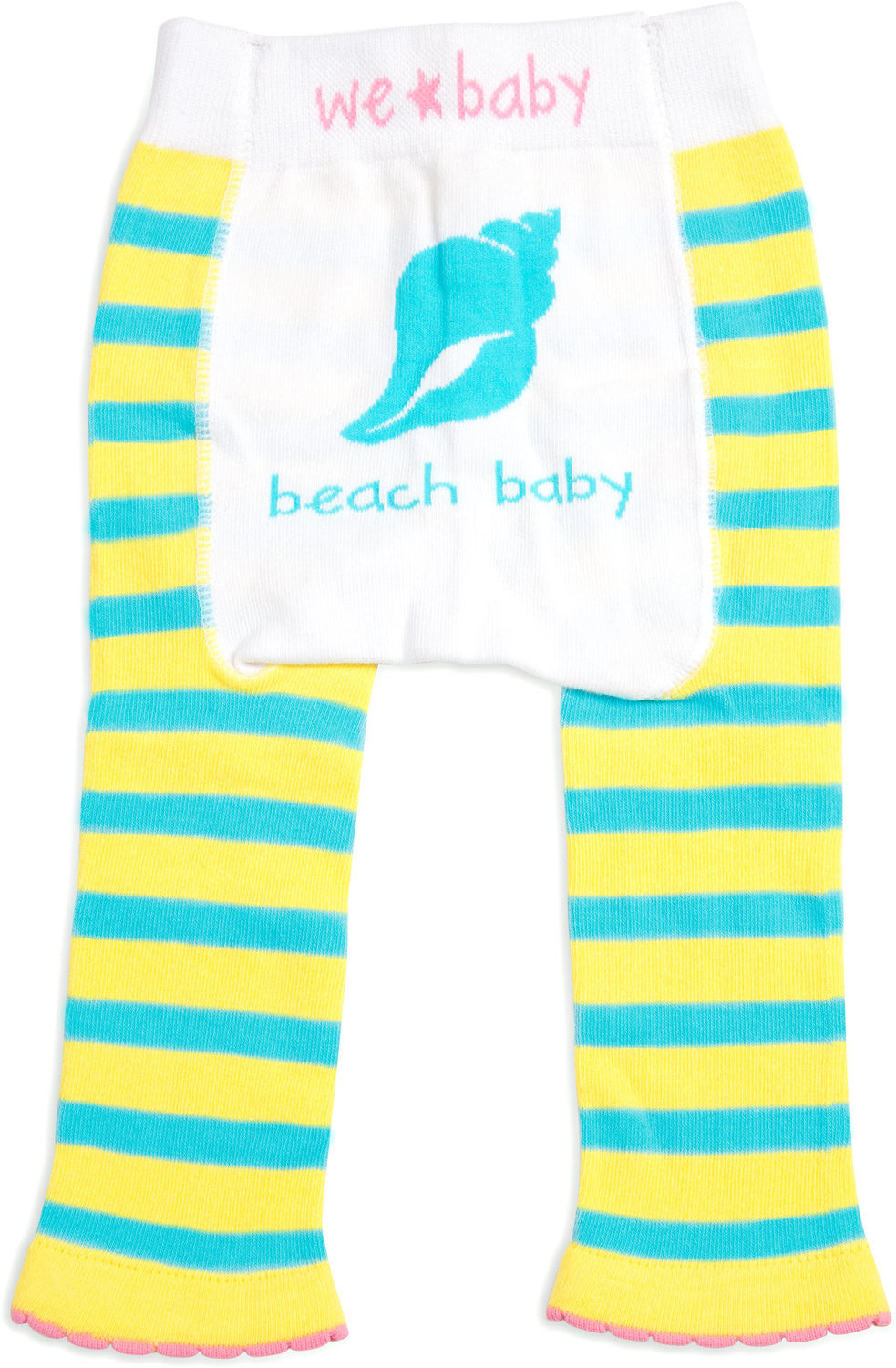 Beach Baby - Baby Girls Leggings, We Baby (Coming Soon) - GigglesGear.com