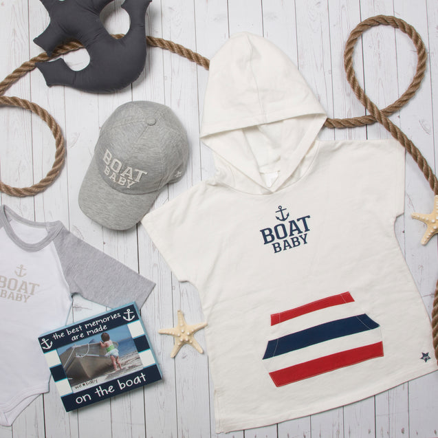 Boat Baby No Sleeve French Terry Cloth Hoodie Hoodie We Baby - GigglesGear.com