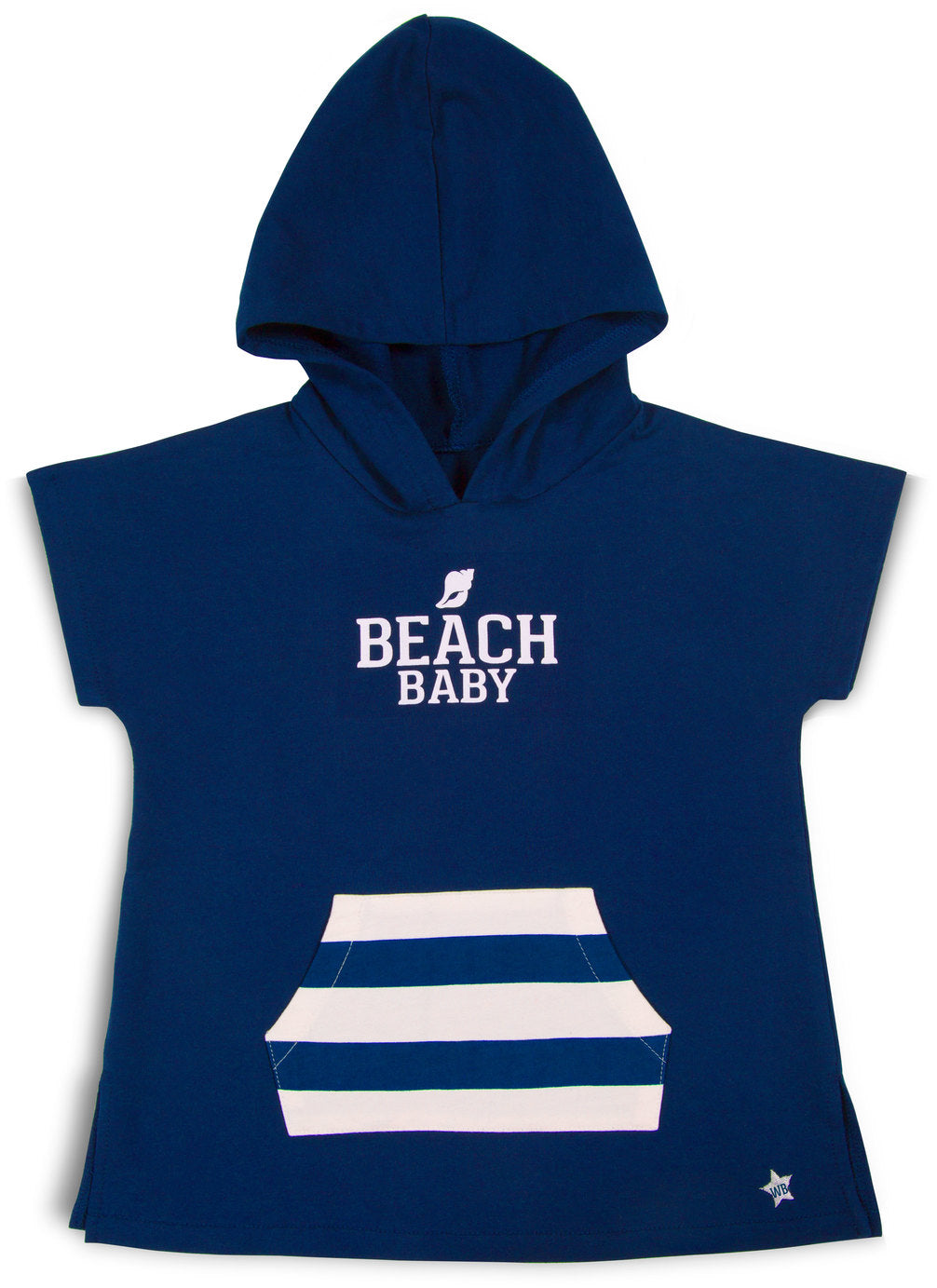 Beach Baby No Sleeve French Terry Cloth Hoodie (2T - 3T) Terry Cloth Hoodie We Baby - GigglesGear.com