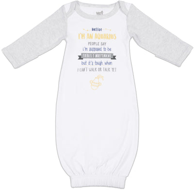 Aquarius Baby Sleeping Gown w/Mitten Cuffs