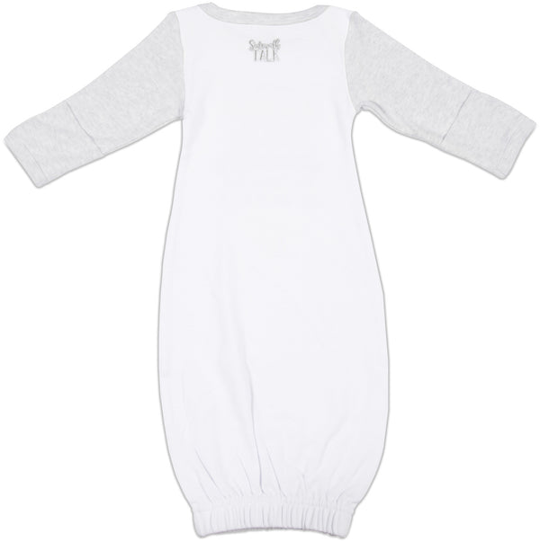Pisces Baby Sleeping Gown w/Mitten Cuffs Sleeping Gown Sidewalk Talk - GigglesGear.com
