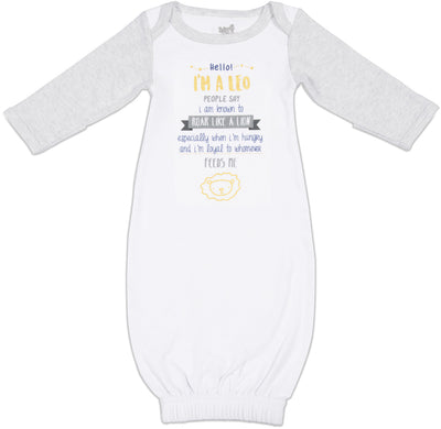 Leo Baby Sleeping Gown w/Mitten Cuffs