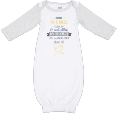 Virgo Baby Sleeping Gown w/Mitten Cuffs
