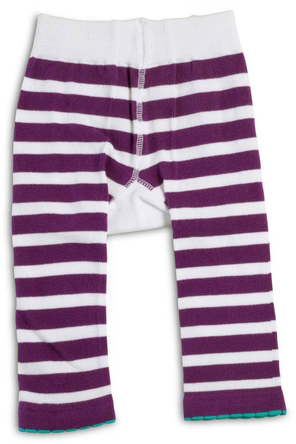 Purple and White Butterfly Baby Leggings Baby Leggings Izzy & Owie - GigglesGear.com