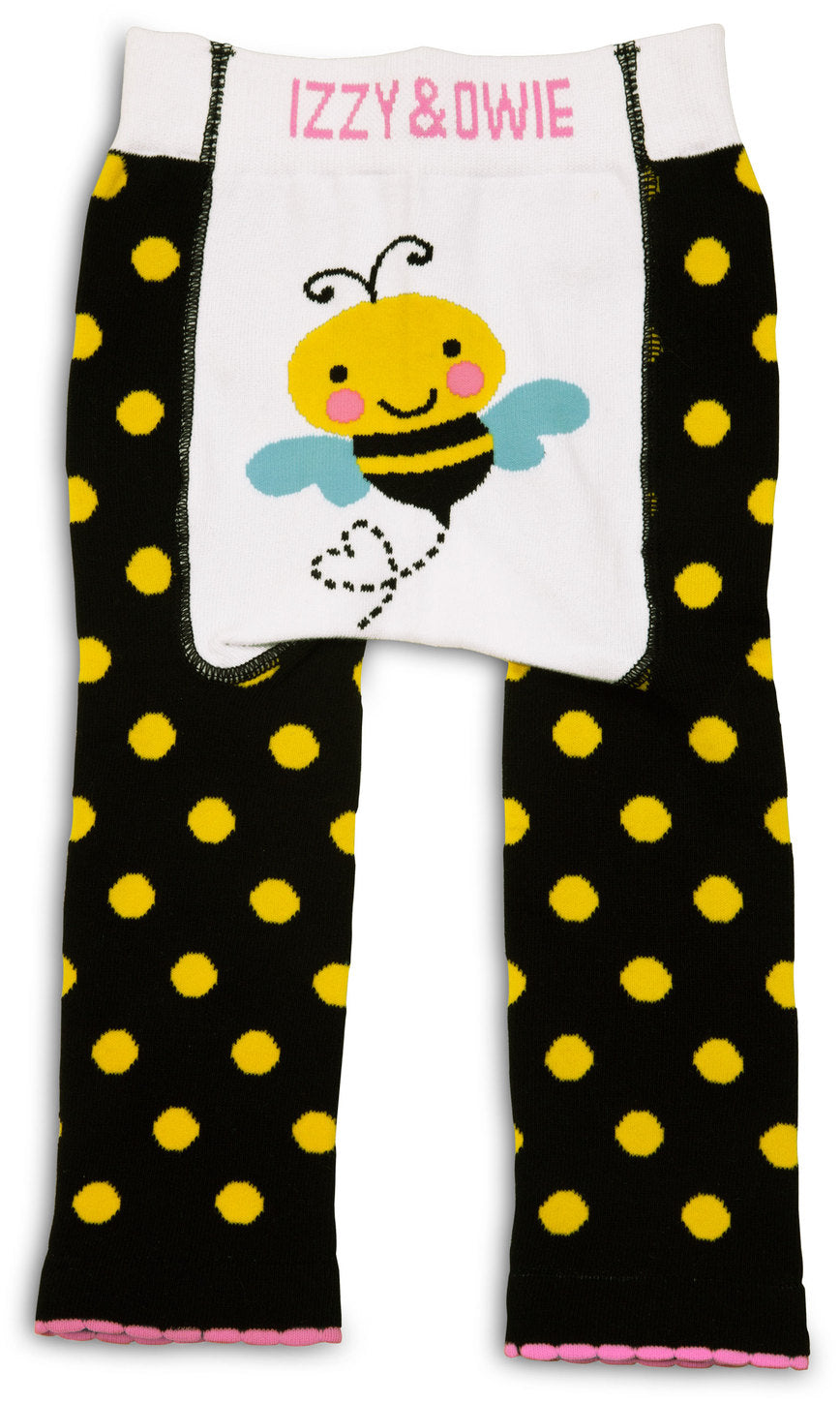 Yellow and Black Bee Leggings Baby Leggings Izzy & Owie - GigglesGear.com