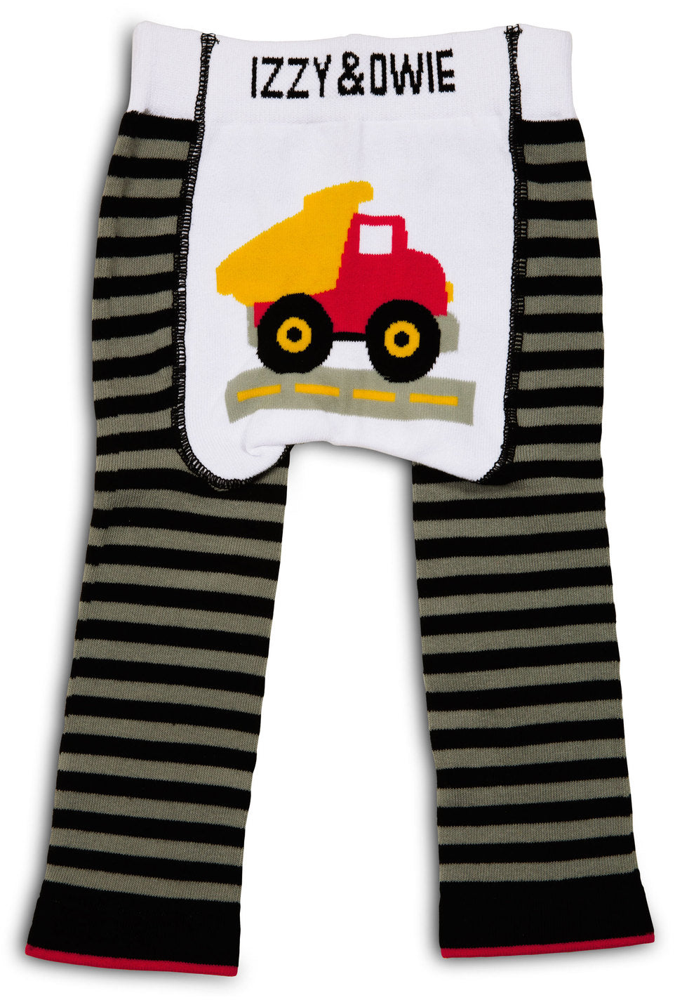 Gray and Black Truck Leggings Baby Leggings Izzy & Owie - GigglesGear.com