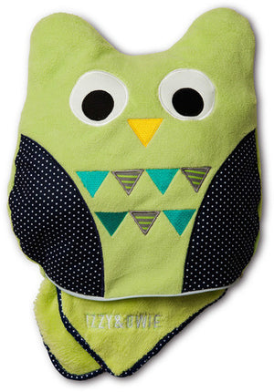 Green and Navy Owl Blanket Baby Blanket Izzy & Owie - GigglesGear.com