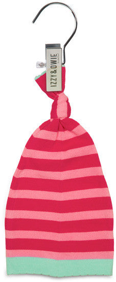 Pink Stripe Cupcake Knotted Baby Hat Baby Hat Izzy & Owie - GigglesGear.com