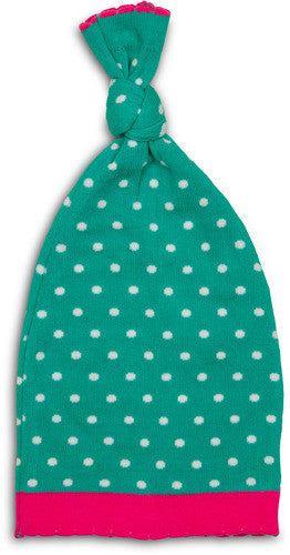 Aqua and White Birdie mini Dot Hat Baby Hat Izzy & Owie - GigglesGear.com