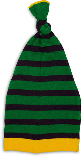 Dark Green and Navy Stripe Hat Baby Hat Izzy & Owie - GigglesGear.com