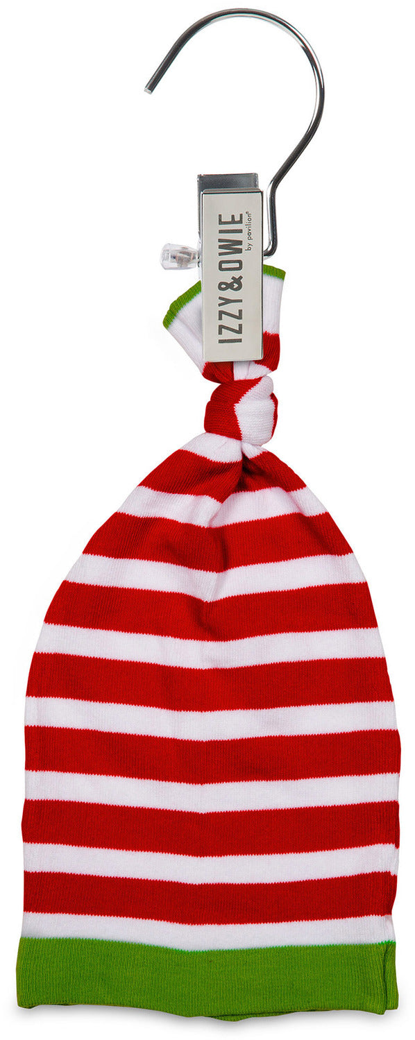 Red and White Stripe Knotted Baby Hat Baby Hat Izzy & Owie - GigglesGear.com