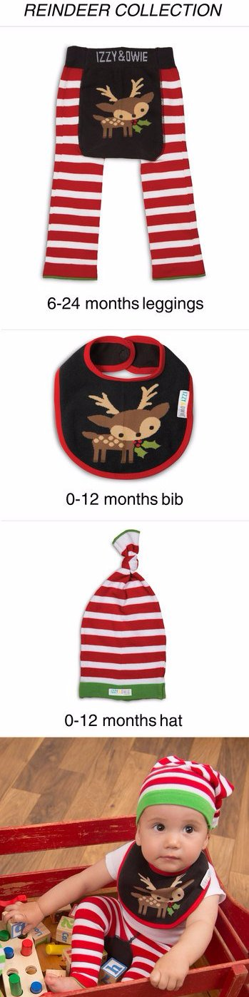 Red and White Stripe Knotted Baby Hat Hat Izzy & Owie - GigglesGear.com