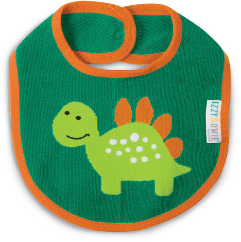 Aqua and Orange Dino Bib