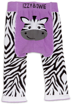 Purple Zebra Baby Leggings