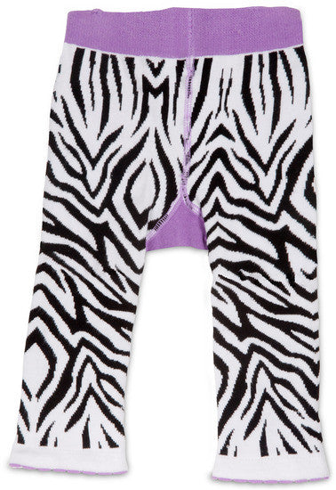 Purple Zebra Baby Leggings Leggings Izzy & Owie - GigglesGear.com