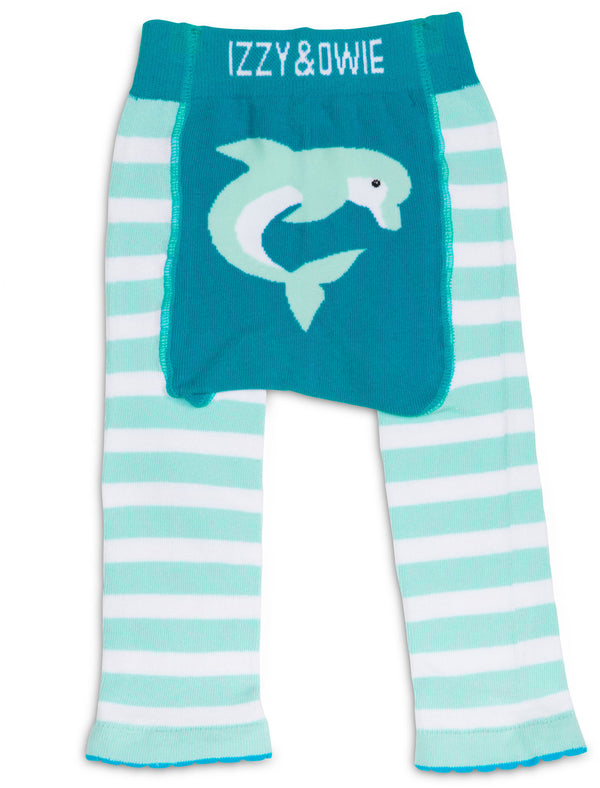 Blue Dolphin Baby Leggings Baby Leggings Izzy & Owie - GigglesGear.com