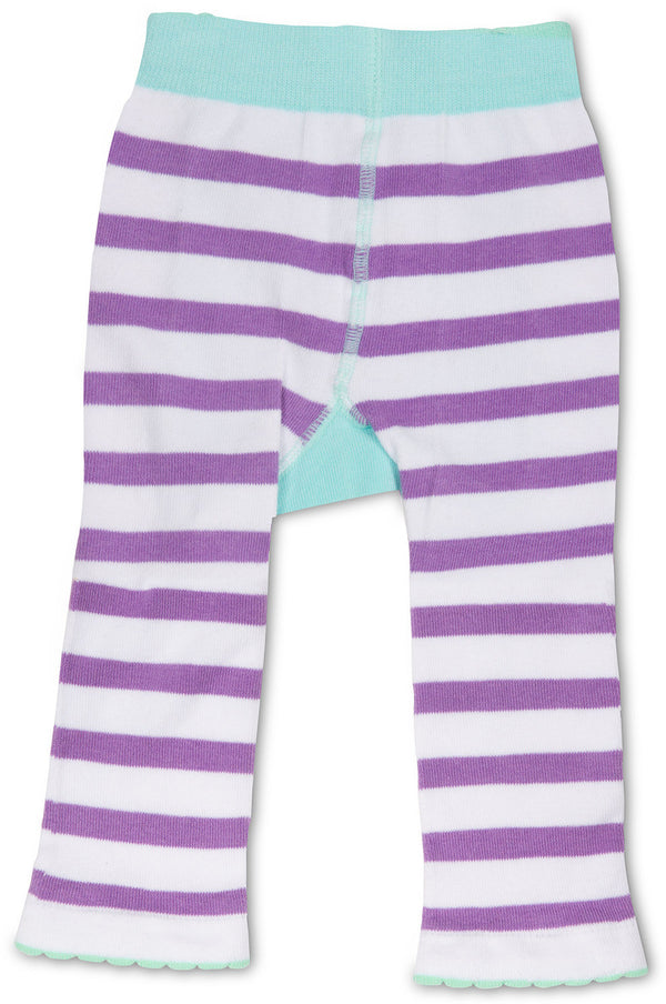 Blue and Lavender Bunny Leggings 6-12 M Leggings Izzy & Owie - GigglesGear.com