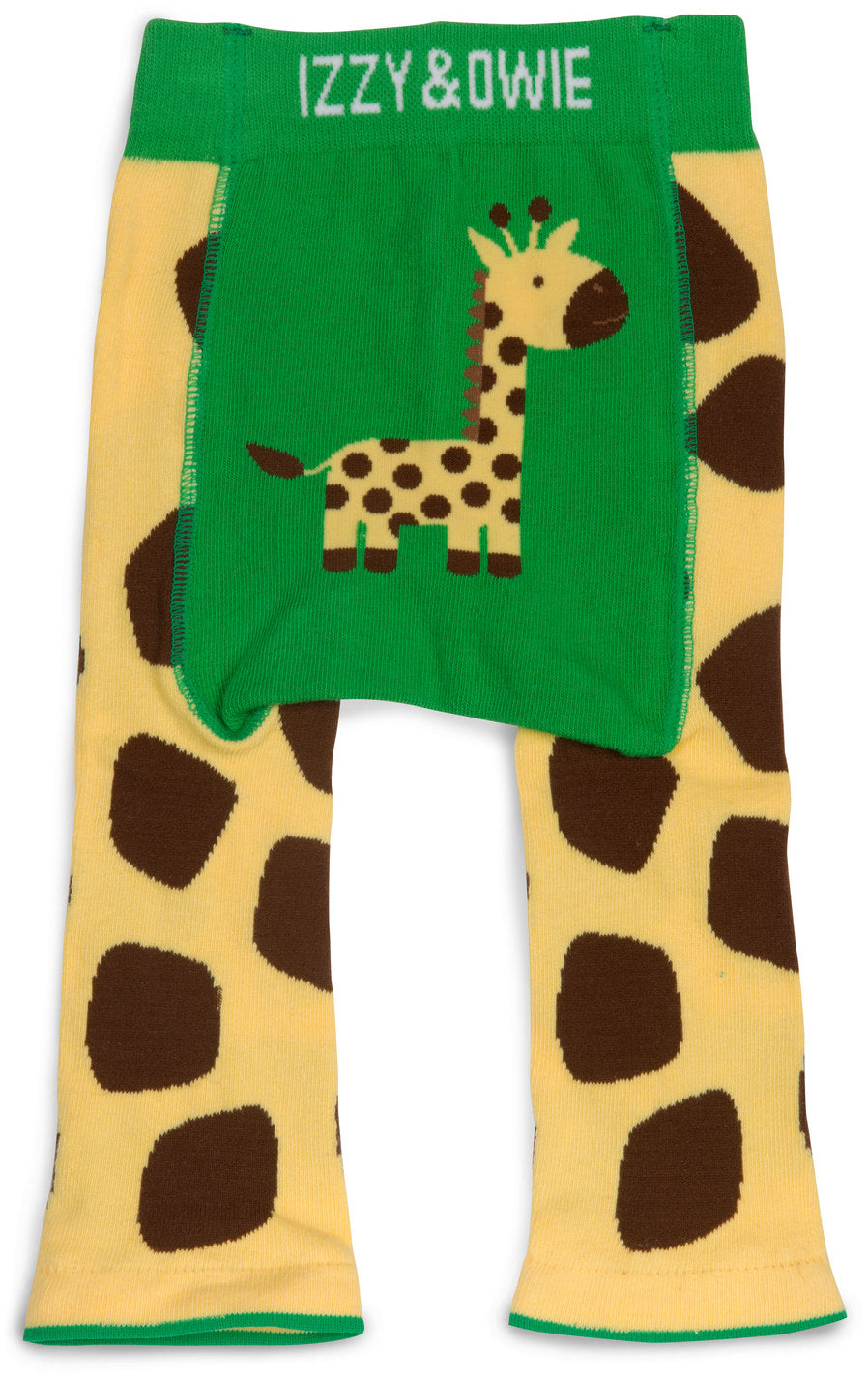 Green and Yellow Giraffe Leggings Baby Leggings Izzy & Owie - GigglesGear.com