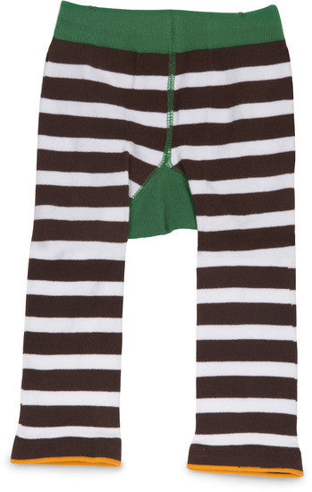 Green and Brown Football Baby Leggings Baby Leggings Izzy & Owie - GigglesGear.com