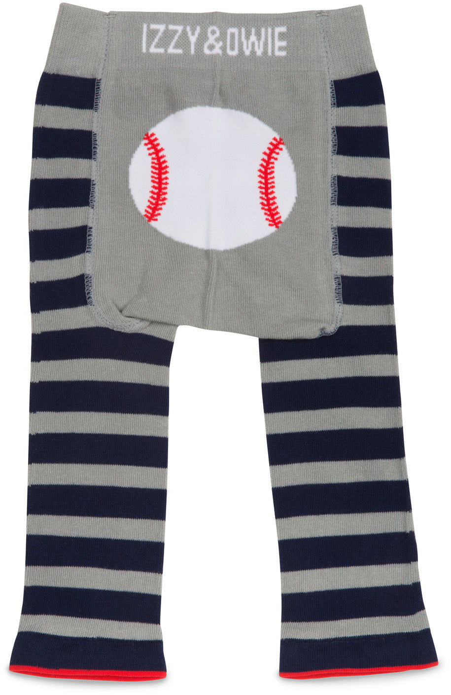 Blue and Gray Baseball Leggings Baby Leggings Izzy & Owie - GigglesGear.com