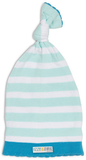 Light Blue Stripe Hat Baby Hat Izzy & Owie - GigglesGear.com