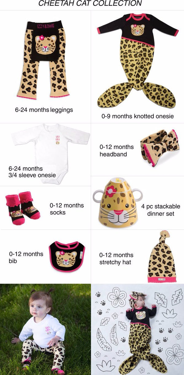 Jungle Cat Knotted Baby Hat Baby Hat Izzy & Owie - GigglesGear.com