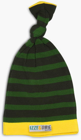 Forest Green Stripe Hat (Retired) Baby Hat Izzy & Owie - GigglesGear.com