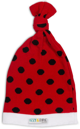 Red and Black Polka Dot Hat Baby Hat Izzy & Owie - GigglesGear.com