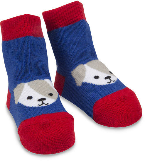 Red and Blue Puppy Socks Baby Socks Izzy & Owie - GigglesGear.com
