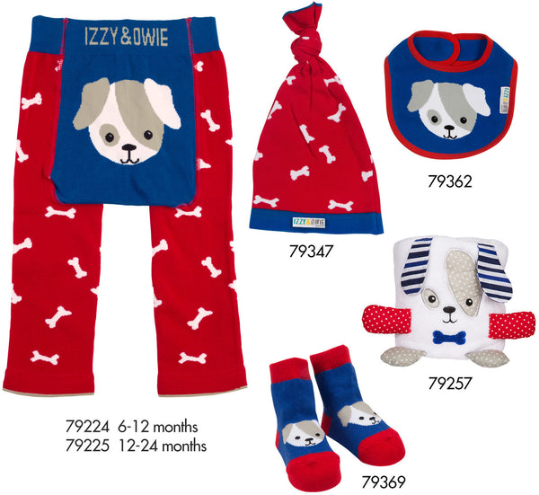 Red and Blue Puppy Baby Socks Baby Socks Izzy & Owie - GigglesGear.com