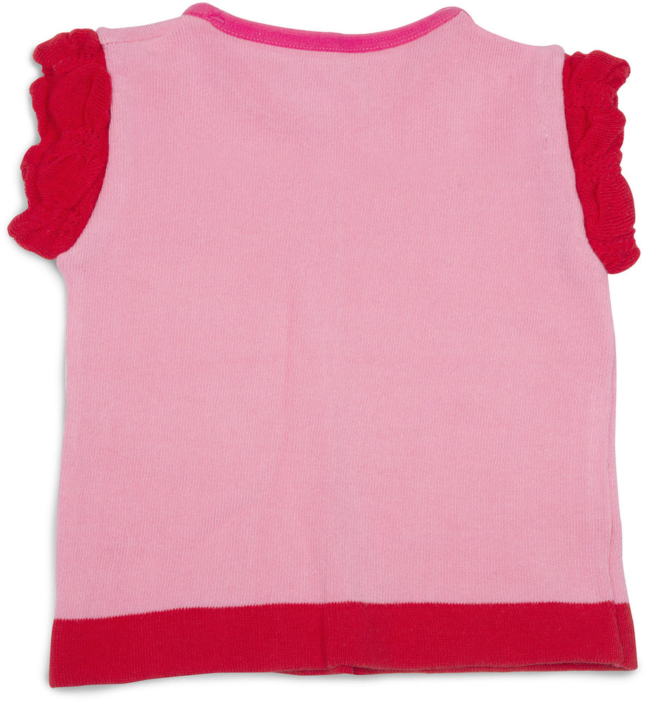 Pink and Coral Ruffled Baby T-Shirt Baby Shirt Izzy & Owie - GigglesGear.com