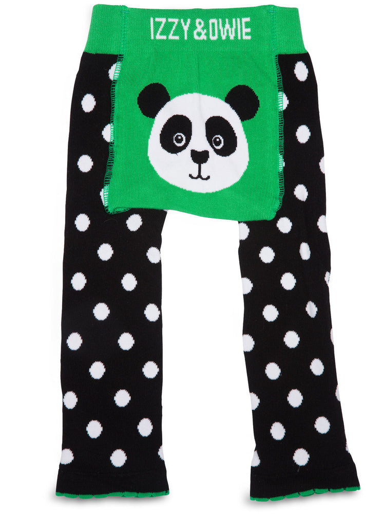 Bamboo Green Panda Leggings 6-12 M