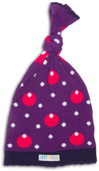 Purple Hippo Knotted Baby Hat Hat Izzy & Owie - GigglesGear.com