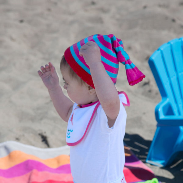 Pink Flamingo Knotted Baby Hat Baby Hat Izzy & Owie - GigglesGear.com