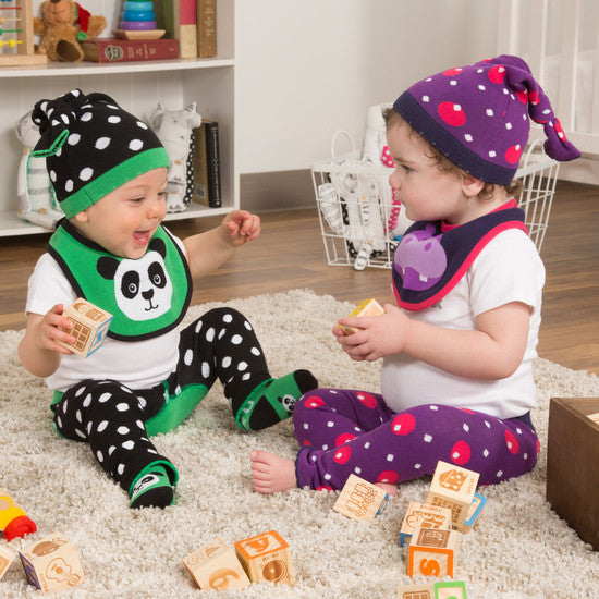 Bamboo Green Panda Knotted Baby Hat Baby Hat Izzy & Owie - GigglesGear.com