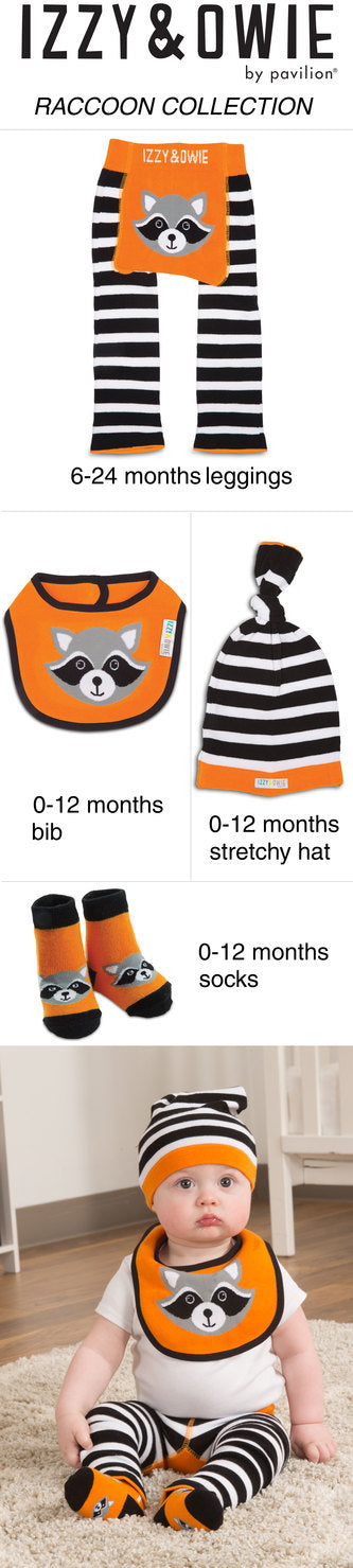 Orange Raccoon Knotted Baby Hat Baby Hat Izzy & Owie - GigglesGear.com