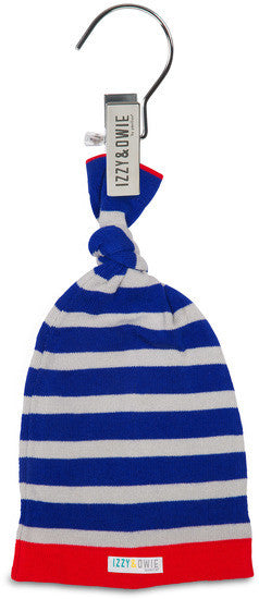 Red and Blue Train Knotted Baby Hat Hat Izzy & Owie - GigglesGear.com