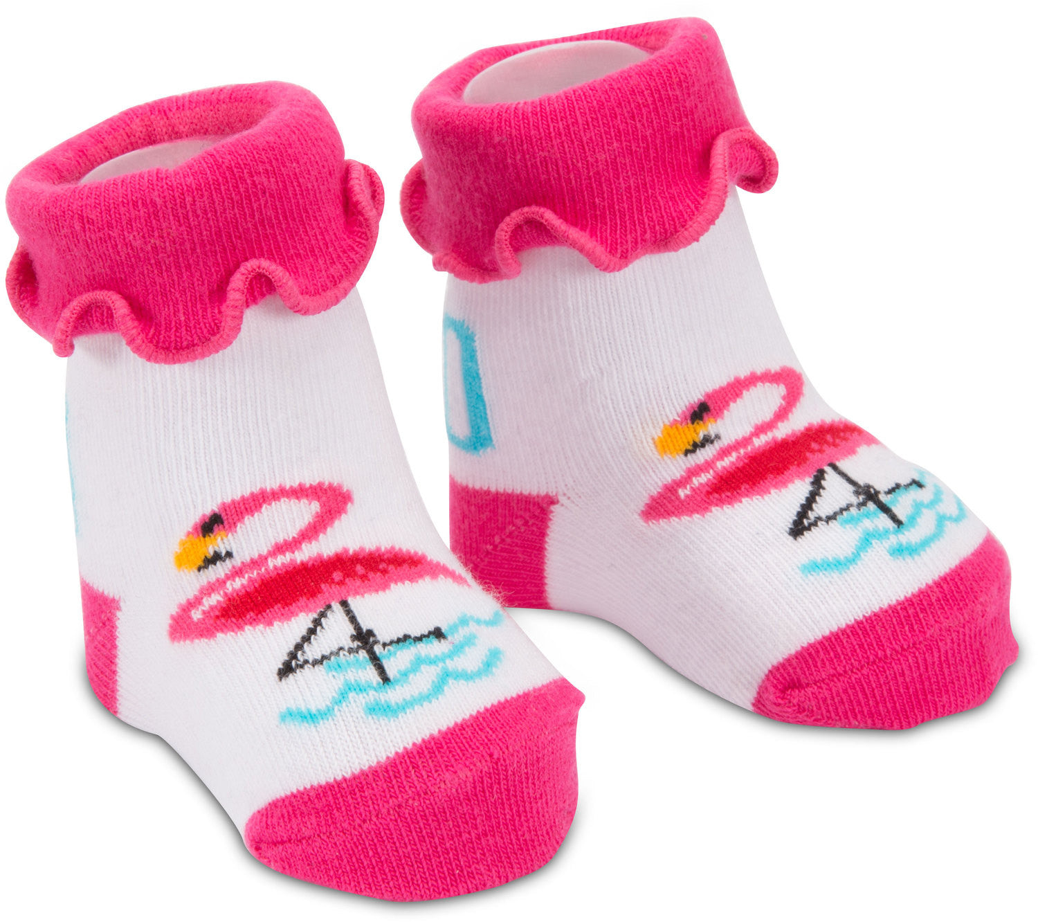 Pink Flamingo Baby Socks 0 12 M Giggles Gear