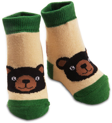 Black Bear Baby Socks