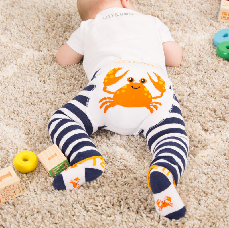 Nautical Crab Socks Baby Socks Izzy & Owie - GigglesGear.com