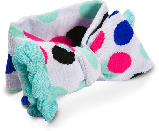 Mint and Black Polka Dot Headband 0-12 M Headband Izzy & Owie - GigglesGear.com