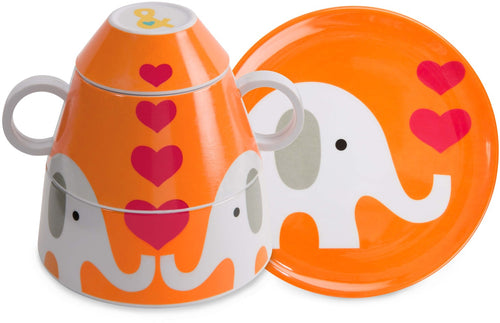 Elephant 4 pc Stackable Dinner Set